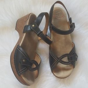 Dansko black sandals 38